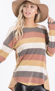 Autumn Stripes Top