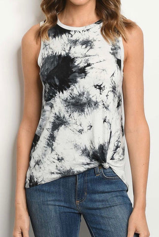 Black and White Tie Dye tank