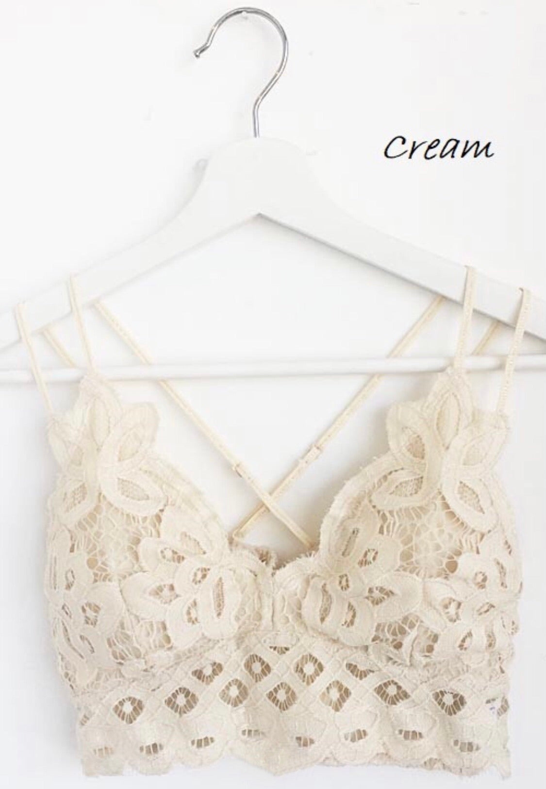 Lace Bralette-Cream