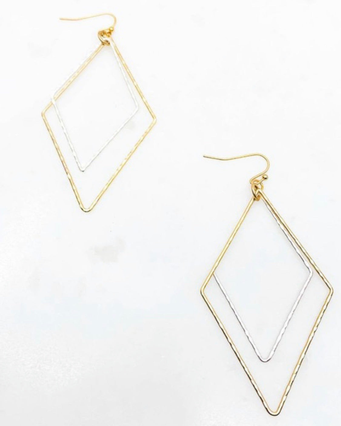 Hammered Diamond earrings.
