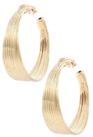 Layered Metal Hoop earrings