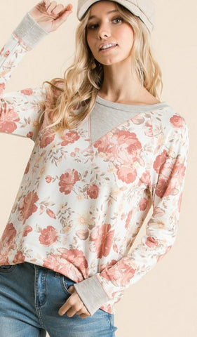 Floral Sunset Top