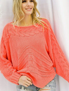 Coral Crush Sweater
