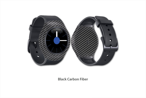 Black Carbon Fiber Gear S2 skins Stickerboy