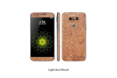 Light Burl Wood LG G5 skins Stickerboy