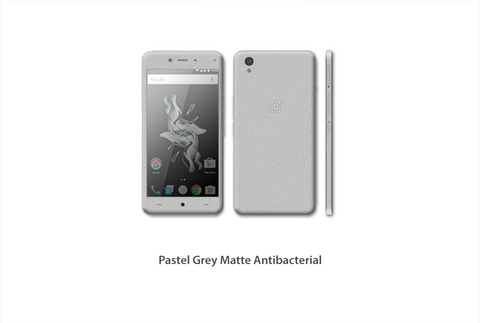 OnePlus X Pastel Grey Antibacterial Matte skin kit by Stickerboy