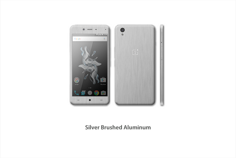 OnePlus X Silver brushed Aluminum skin kit by Stickerboy