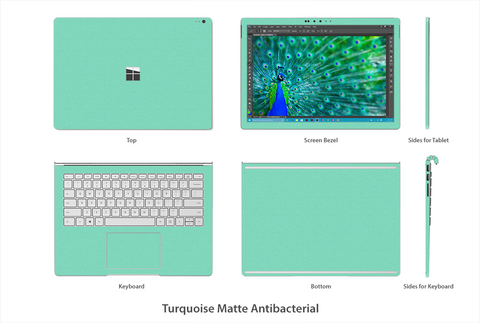 Turquoise Tiffany Matte Surface Book Skins Stickerboy