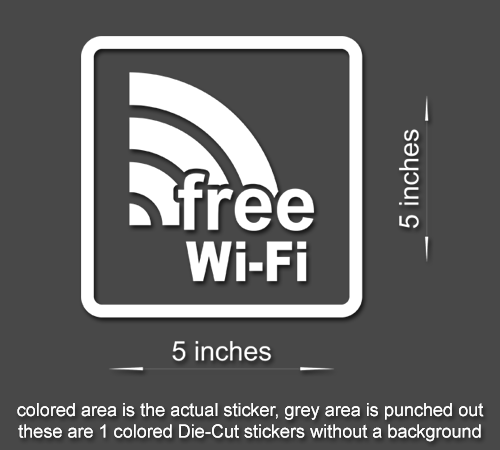4 x free wi fi sign vinyl sticker business office window door decal style 2 60505 wifi 2