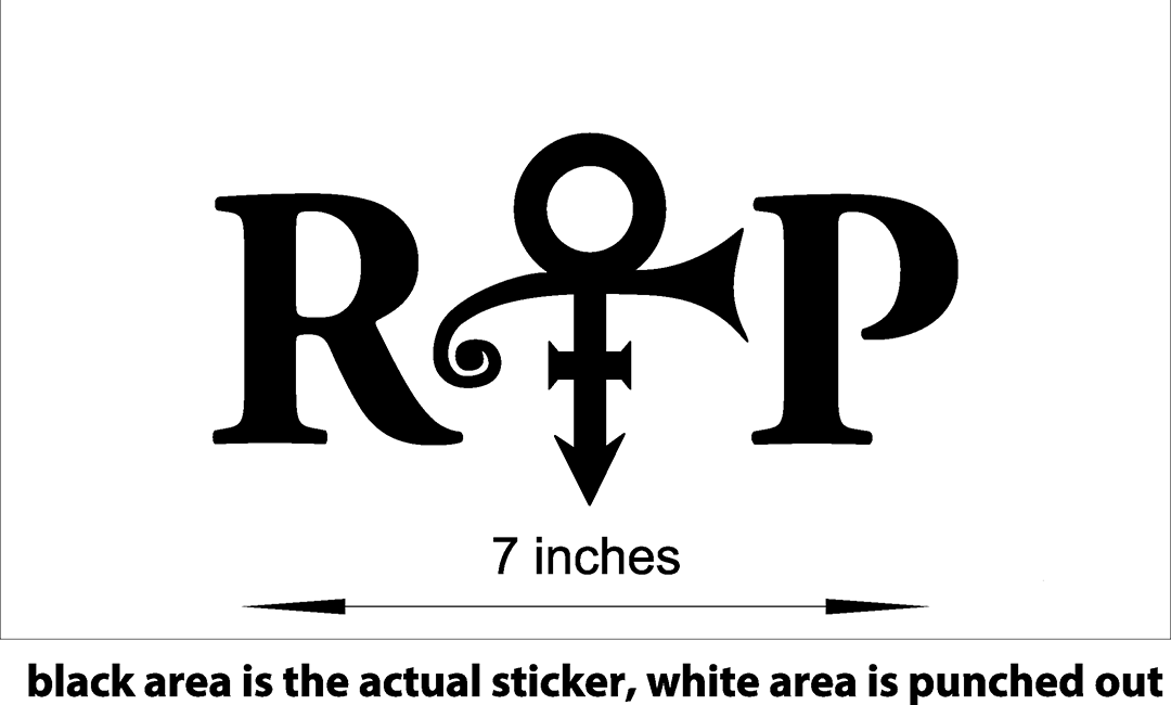 Prince love symbol vinyl stickers decal 60013