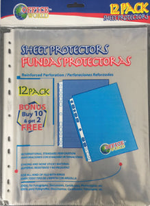 10+2 Sheet Protector Pack