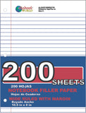 Filler Paper Sheet Packs