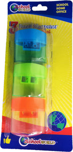 3-pc Assorted Color Pencil Sharpeners