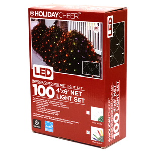 100 4'x6' Net LED Light Set (Multi-Color)