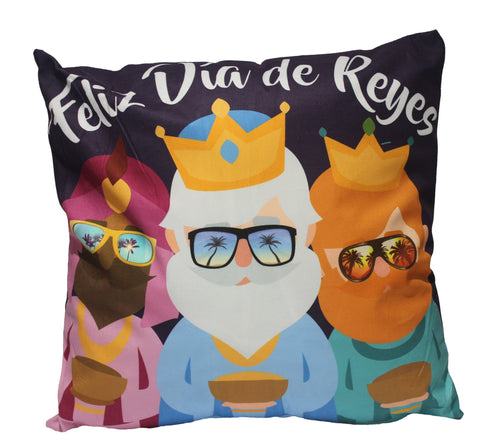 Christmas Pillow 18x18 (Feliz Dia de Reyes)