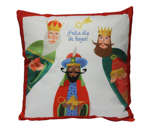 Christmas Pillow 18x18 (Three Kings Red)