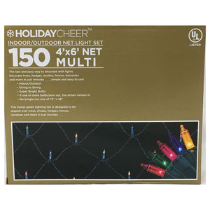 "2 Boxes of 48"" x 72"" Indoor/Outdoor Multi-Color Net Light Set $9.98 ea."