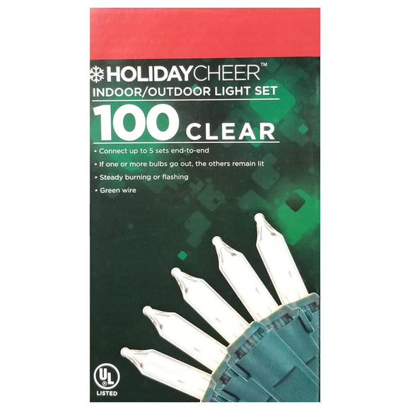 6 Boxes of Indoor/Outdoor 100 Clear Christmas Light Set $2.98 ea.