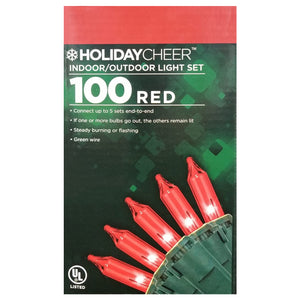 6 Boxes of Red 100 Christmas Light Set $2.98 ea.