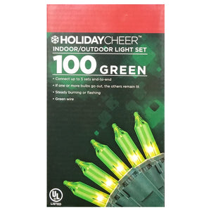 6 Boxes of 100 Green Indoor/Outdoor Christmas Light Sets $2.98 ea.