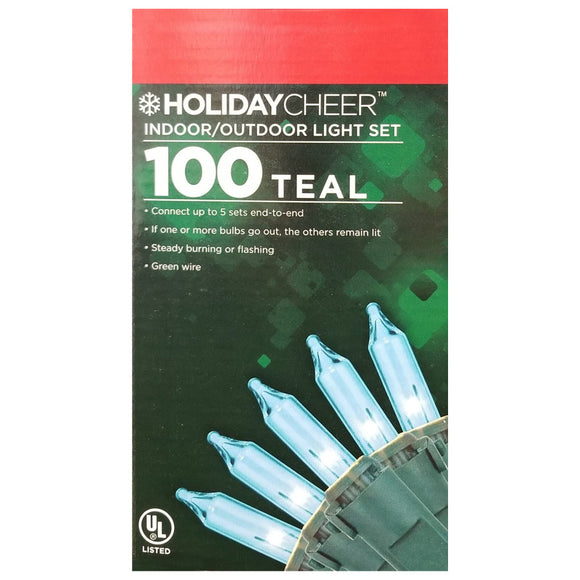 6 Boxes of Indoor/Outdoor Teal Christmas Light Set $2.98 ea.