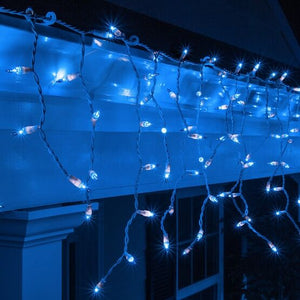 Two Boxes of UL ICICLE HOLIDAY LIGHT SET [Blue/white wire]
