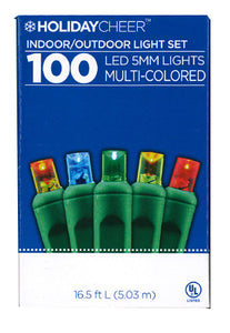 Two boxes of Indoor/Outoor 100 LED 5mm Light Set (Multi-Color) $8.98 ea.