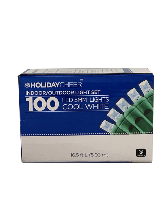 Two boxes of Indoor/Outoor 100 LED 5mm Light Set (Cool White) $8.98 ea.