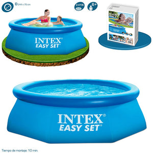 Intex 8ft x 30in Inflatable Outdoor Pool (filter not included) Limit 2 per customer