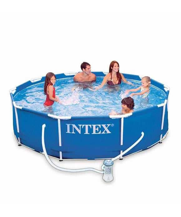 Intex 10ft x 30in Metal Frame Outdoor Pool [filter include] Limit 2 per customer