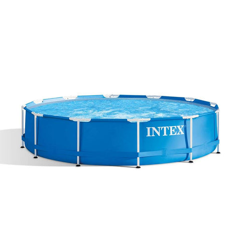 Intex 12ft x 30in Metal Frame Outdoor Pool (filter not include) Limit 2 per customer