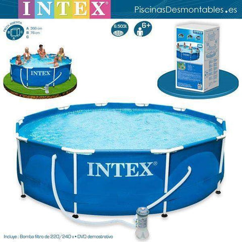 Intex 12ft x 30in Metal Frame Outdoor Pool [includes filter]