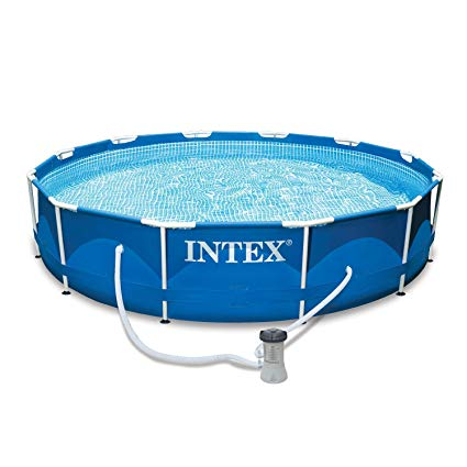 Intex 12ft x 30in Metal Frame Outdoor Pool [includes filter] Limit 2 per customer