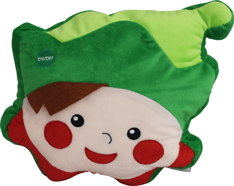 Lighted Stuffed ELF Decoration Pillow with LED Lights