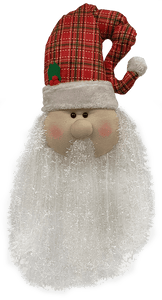 30 inches Plush & Fleece Santa with Plaid Hat