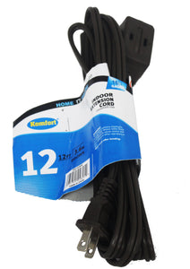 12 Feet UL Extension Cord Brown or White
