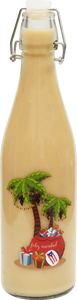 24 Clear Coquito Bottles of .5 Liter $0.98 ea. (Christmas Palm Trees)