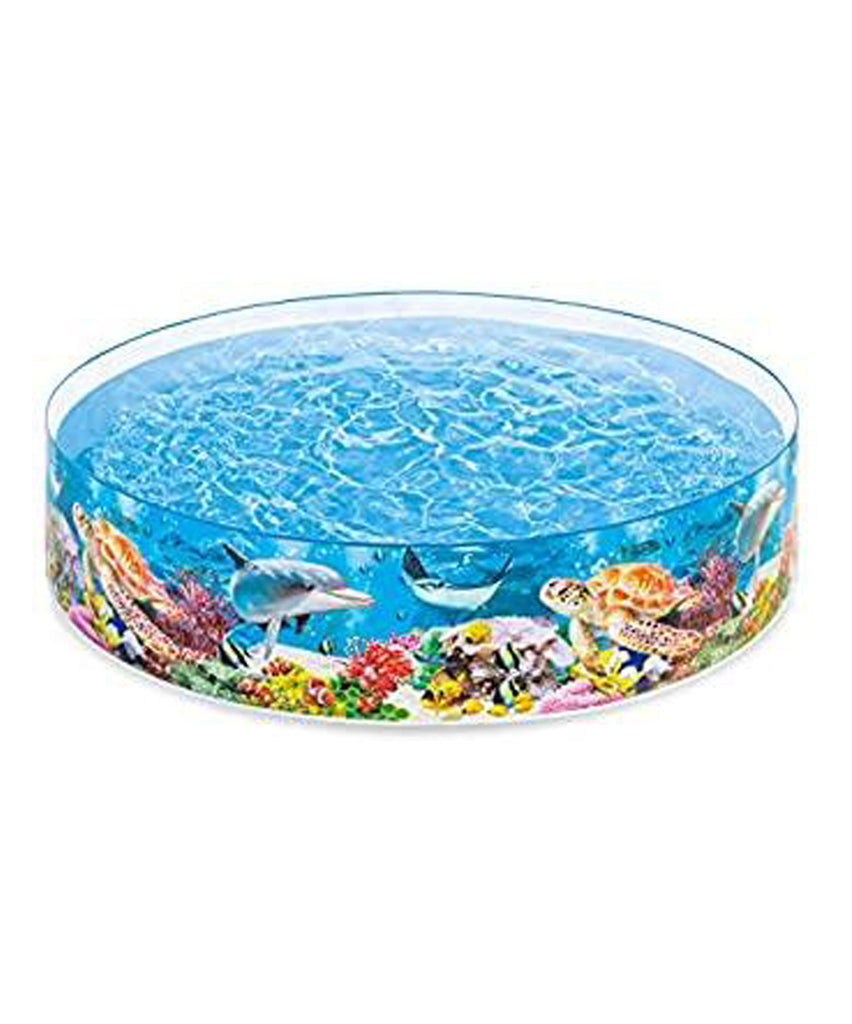 "Intex 8ft x 18in Deep Blue Sea Snapset Pool ""For Kids"" Limit 2 per customer"