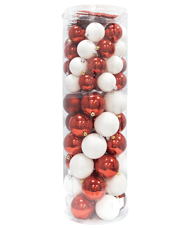 Christmas Ornaments Collection 80 pk (Multiple Colors)