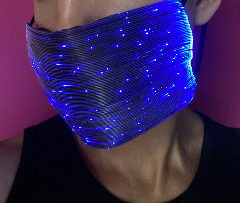 LED light up Xmas Face Mask (One Mask)