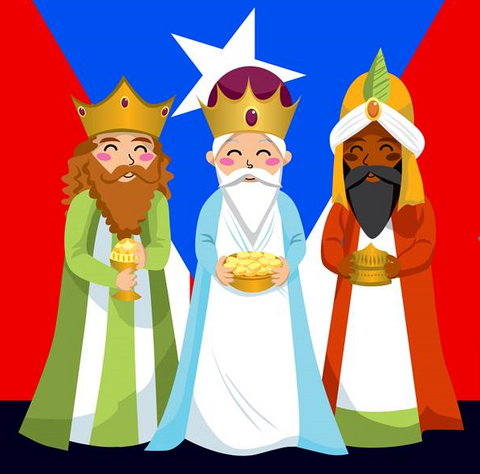 Three Kings Puerto Rico Flag Picture 30x30cm (EACH SOLD SEPERATELY)
