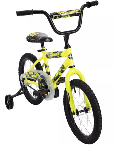 "Huffy Pro Thunder 16"" Kids Bike - Yellow"