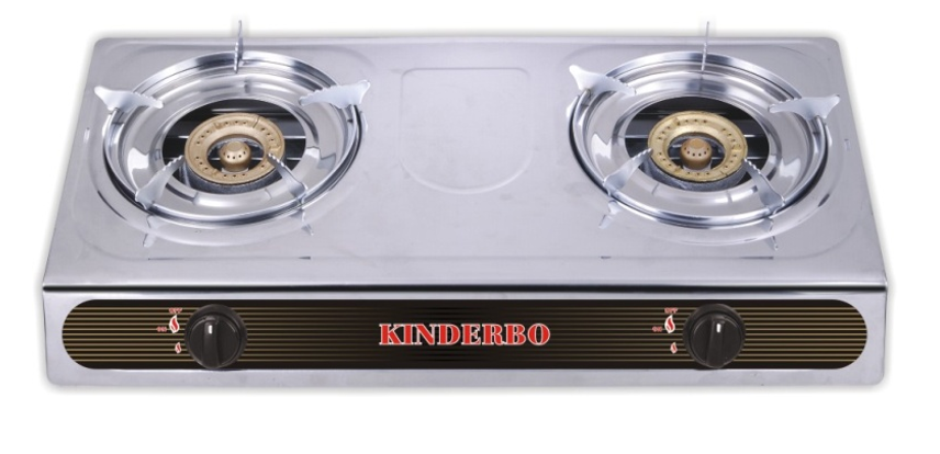 KONFORT 2 Burner Gas stove - Stainless Steal