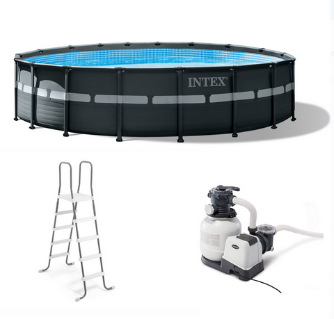 "Intex 18' x 52"" Ultra XTR Frame Round Above Ground Swimming Pool Set with Filter Pump"