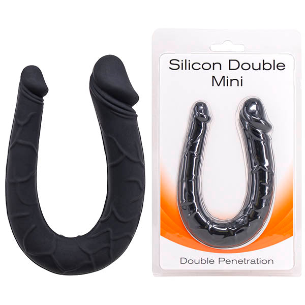 Silicone Double Mini - Black U-Shaped Double Ended Dong