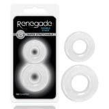 Renegade - Double Stack - Clear Cock Rings - Set of 2