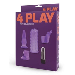 4 Play Mini Couples Kit - Mini Bullet with 4 Interchangeable Sleeves