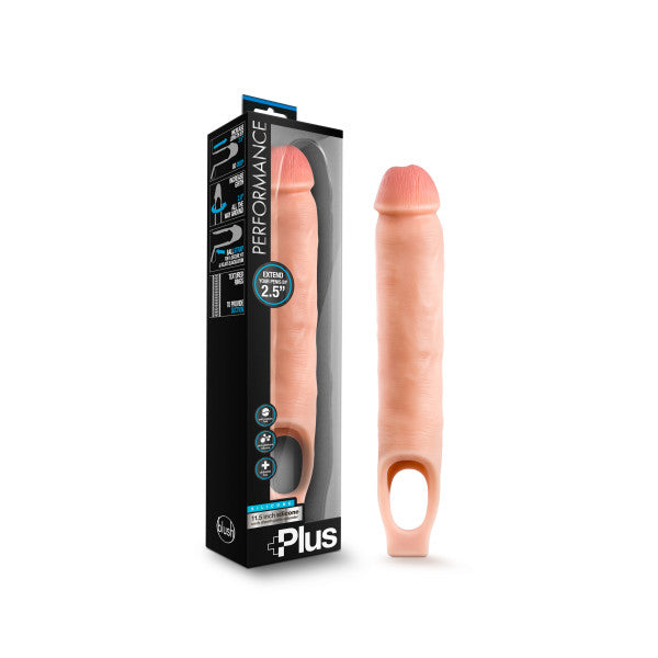 Performance Plus 11.5'' Silicone Cock Sheath Penis Extender - Flesh 6.4 cm (2.5'') Penis Extender Sleeve