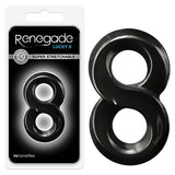 Renegade -  Lucky 8 - Black Cock Ring