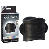 Fantasy C-ringz Silicone Ball Stretcher - Black Ball Ring